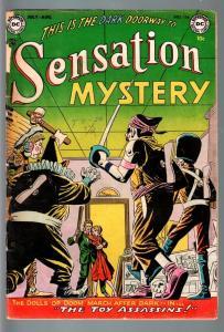SENSATION MYSTERY COMICS #114-DC PRE CODE HORROR-JOHNNY PERIL-1953-G minus G-