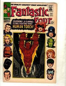 Fantastic Four # 54 VF- Marvel Comic Book Silver Age Thing Human Torch Doom GK1