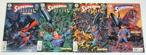 Superman/Aliens II: God War #1-4 VF/NM complete series - darkseid set lot 2 3