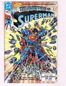 The Adventures Of Superman #468 VF DC Comics Comic Book Jurgens DE13