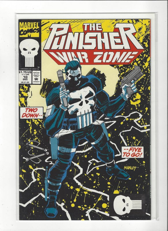 The Punisher War Zone #10 (1992) John Romita Jr. Marvel Comics NM