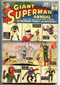 SUPERMAN ANNUAL #5 1962-ALL KRYPTON ISSUE-SILVER AGE-g-