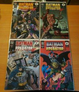 Batman Versus Predator II 1-4 Complete Run! ~ NEAR MINT NM ~ 1994 DC Comics