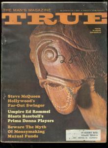 TRUE PULP MAG-JULY 1964-STEVE McQUEEN-WALTER CRONKITE! G/VG