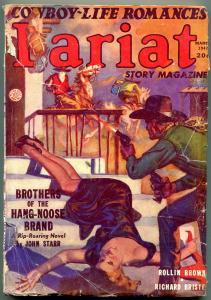 Lariat Pulp March 1947- John Starr- Rollin Brown- Wild Bill Hickok G/VG