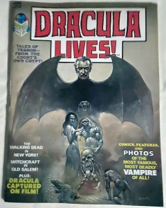 DRACULA LIVES! #1 (Marvel,6/1973) VG-F (INKED) Conway, Colan, Gerber,Heath (CP1)