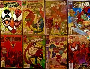 AMAZING SPIDER-MAN #430,363,403,378,WEB OF#119,P.PKER #13 CARNAGE 8 PACK ALL NM