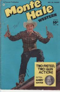 MONTE HALE WESTERN #44 GABBY HAYES PHOTO COVER 1950 VG/FN