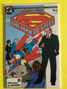 SUPERMAN   THE MAN OF STEEL MINI SERIES   #4 OF 6  1986  DC  /  UNREAD