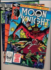 Marvel Comics MOON KNIGHT #11,13,14 Daredevil, 1981 ~ F/VF+ (HX761)
