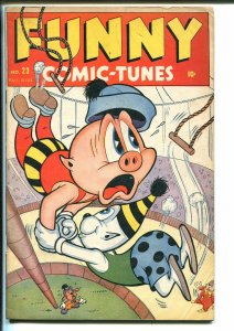 Funny Comic-Tunes #23 1946-Timely-final issue-Kurtzman-Tessie-Millie-FN MINUS