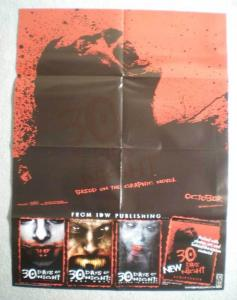 30 DAYS OF NIGHT Promo Poster, Vampire, 2007, Horror, Unused, more in our store