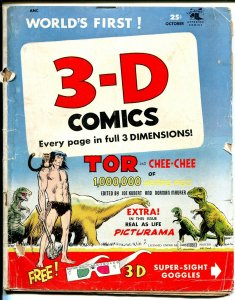 3-D #2 1953-St John-Tor-Joe Kubert-dinosaur art-Russ Heath-G