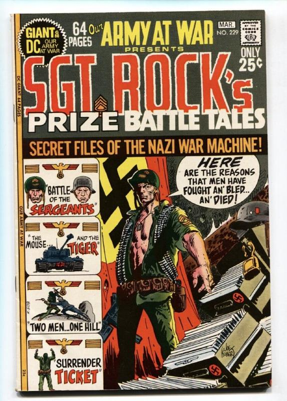 OUR ARMY AT WAR #229 comic book 1971-DC-SGT ROCK- GIANT ISSUE--vf+