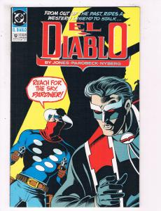 El Diablo #12 VF DC Comics Comic Book Jones Aug 1990 DE22