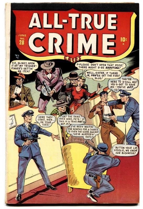 All-True Crime Cases #28 1948- Timely Pre-Code crime violence comic book