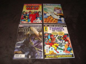 TRUE BELIEVERS THANOS RELATED COMPLETE SET OF 8