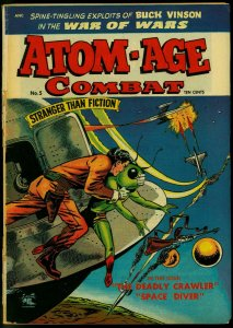 Atom-Age Combat #5 1953- Flying Saucer cover- St John Golden Age G