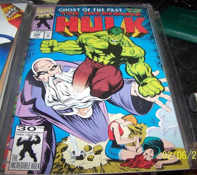 incredible hulk comic # 399  the leader ghosts of the past 4 bruce banner**