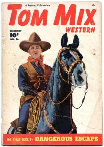 TOM MIX WESTERN #26 ON HIS HORSE TONY  PHOTO COVER 1950 G/VG