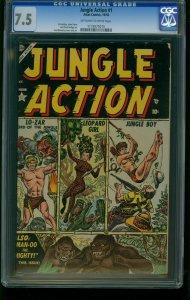 JUNGLE ACTION #1-ATLAS-CGC 7.5-JOE MANEELY-LO-ZAR-SOUTHERN STATES 1173075015