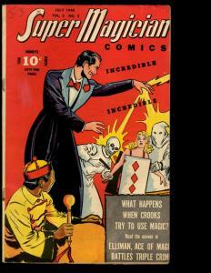Super Magician Comics Vol. # 5 # 3 VF 1946 Golden Age Comic Book Demons NE3
