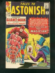 TALES TO ASTONISH #56 1964-GIANT MAN-WASP-MARVEL-SLVR A FN