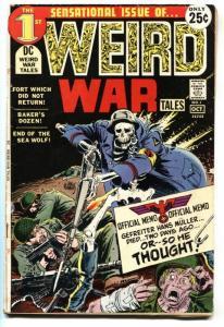 WEIRD WAR TALES #1-1st issue DC comic book 1971 VG-