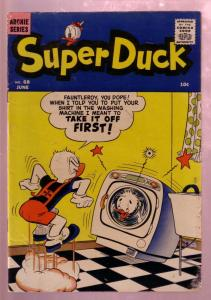 SUPER DUCK #68 1956-WACKY WASHING MACHINE COVER-RARE VG