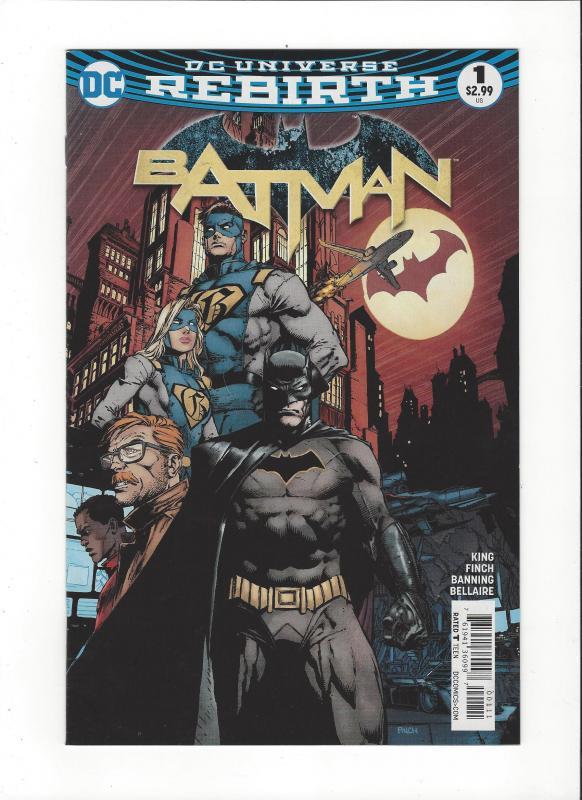Batman #1 DC Universe Rebirth NM
