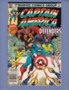 Captain America #268 FN/VF Defenders Marvel 1982
