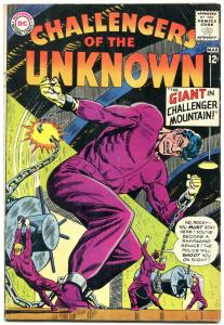 CHALLENGERS OF THE UNKNOWN #36 1964-DC COMICS DINOSAURS-very good VG
