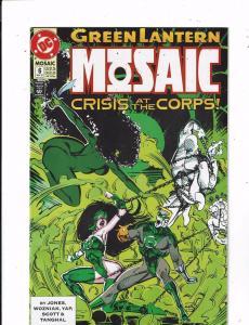 Lot of 5 Green Lantern Mosaic DC Comic Books #6 7 8 9 10 John Stewart LH15