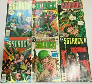 SGT. ROCK#310-419 FN-VF LOT (6 BOOKS) 1977 DC BRONZE AGE COMICS