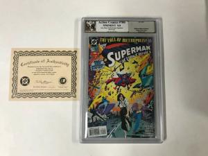 ACTION COMICS 700 Pgx 9.8 SIGNED SUPERMAN CREATOR JERRY SIEGEL Like Cgc