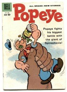 Popeye #51 1960- Dell silver age comic VG-