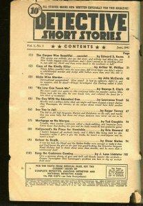 DETECTIVE SHORT STORIES 6/1941-HARD BOILED CRIME PULP TIMELY/MARVEL-pr/fr