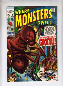 Where Monsters Dwell #3 (May-70) FN+ High-Grade Sporr