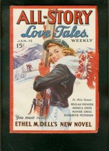 ALL-STORY LOVE TALES WEEKLY-JAN 15 1938-ROMANTIC  PULP VF