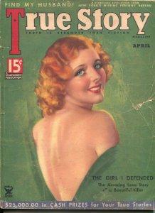 True Story 4/1935-MacFadden-Mozert GGA cover-exploitation-crime-mystery-G