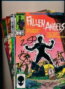 Marvel Comics LOT of 7! FALLEN ANGELS #1-#6, #8 VERY FINE+ (HX857)