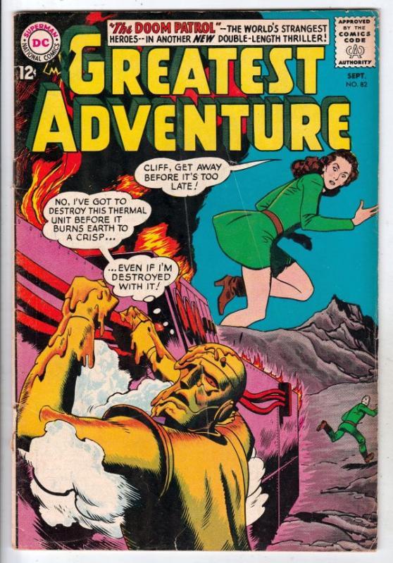My Greatest Adventure #82 (Sep-63) VG/FN Mid-Grade Doom Patrol (Negative Man,...