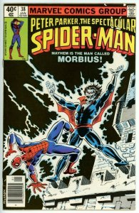 Spectacular Spider-Man #38 (1976) - 6.5 FN+ *Great Morbius Cover*