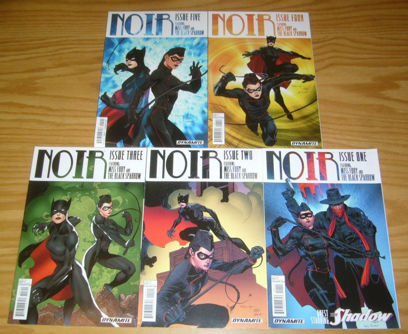 Noir #1-5 VF/NM complete series - miss fury - black sparrow - the shadow 2 3 4