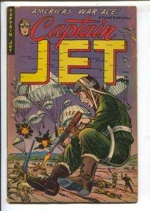 Captain Jet #4 1952-Ajax-fight the commies-Parachute cover-Korean War-story o...