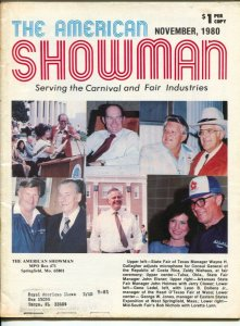 American Showman 11/1980-Carnival & Fair industry mag-space age amusement rid...