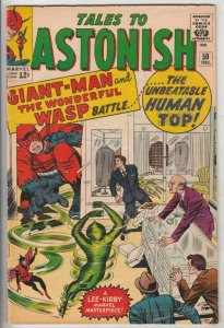 Tales to Astonish #50 (Dec-63) FN Mid-Grade Giant Man, Wasp, Ant-Man