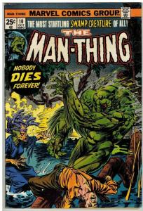 MAN THING (1974) 10 VG Oct. 1974