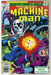 MACHINE MAN #6, VF, Jack Kirby, Living Robot, 1978, more JK in store