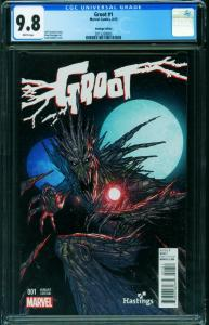 GROOT #1-CGC 9.8-First issue-HASTINGS VARIANT 2015338005